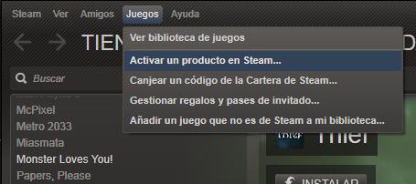 Steam no permite guardar un juego como regalo