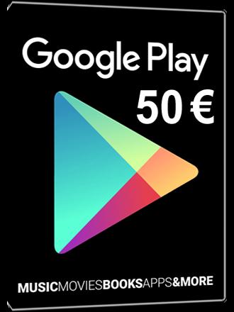 9bbdaa6b20cde7 Google Play Card 50 Euro kaufen, 50€ Giftcard - MMOGA