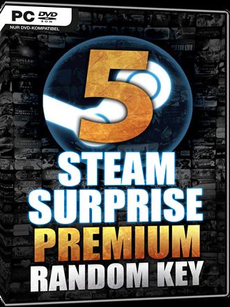 Steam Surprise Premium - Random Steam Key - 5er Pack