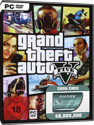 Grand Theft Auto V + GTA Online Megalodon Cash Card (8 Mio $) Screenshot