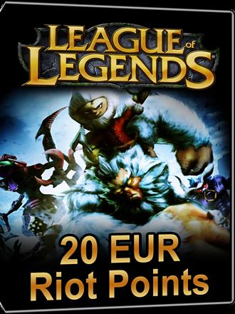 league of legends 20 eur riot points card kaufen mmoga. Black Bedroom Furniture Sets. Home Design Ideas