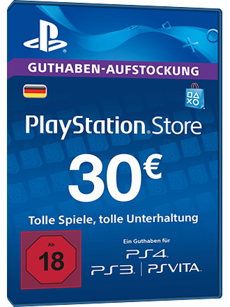 playstation karte PSN Card kaufen, 30 Euro DE, Playstation Network   MMOGA
