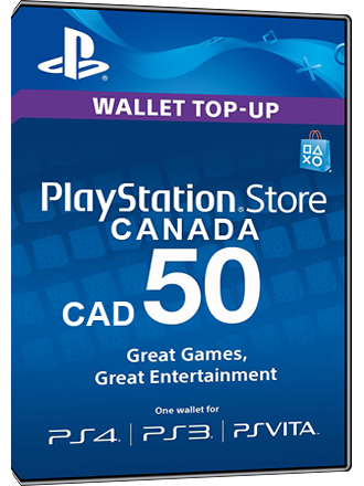 psn card canada playstation network 50 cad mmoga. Black Bedroom Furniture Sets. Home Design Ideas