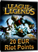 League of Legends - Riot Points Card 20 EUR