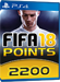 2200 FUT Points - FIFA 18 PS4 DE