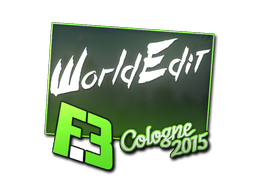 Aufkleber | WorldEdit | Cologne 2015
