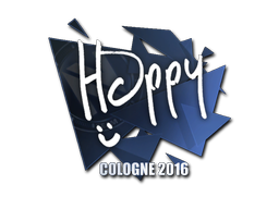 Aufkleber | Happy | Cologne 2016