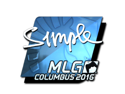 Aufkleber | s1mple (Glanz) | MLG Columbus 2016