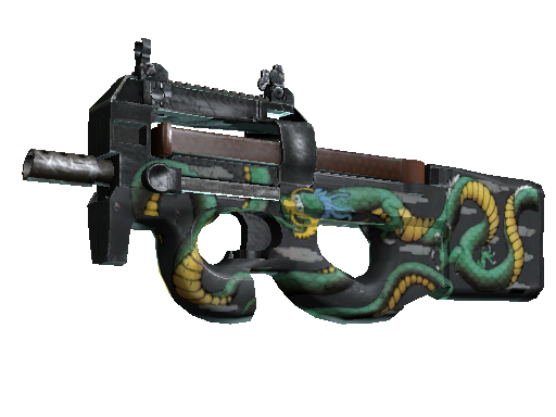 P90 | Emerald Dragon (Fabrikneu)