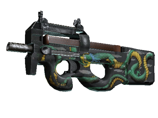 P90 (StatTrak™) | Emerald Dragon (Einsatzerprobt)