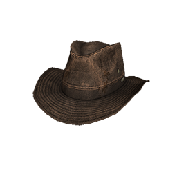 Brown Leather Outback Hat