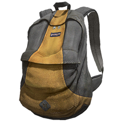 Grey and Yellow Backpack