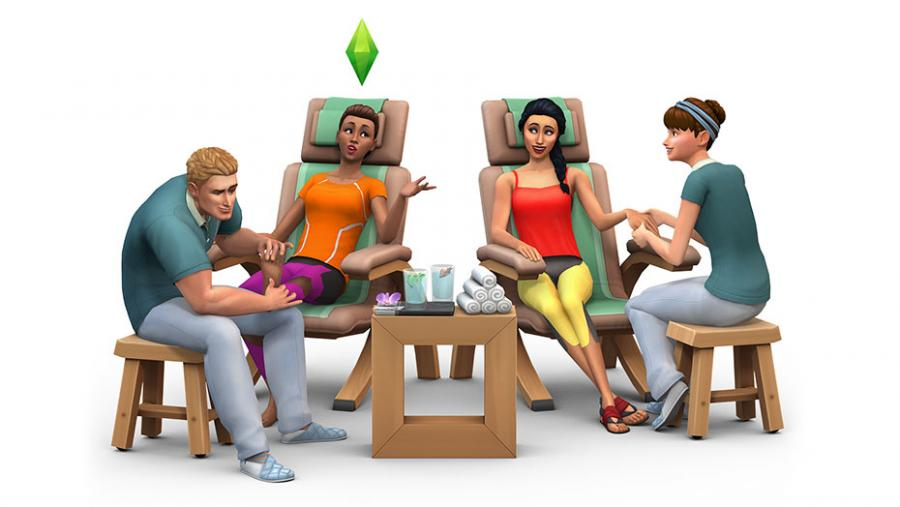 Die Sims 4 - Wellness-Tag + Luxus-Party-Accessoires + Sonnenterrassen Bundle Screenshot 1