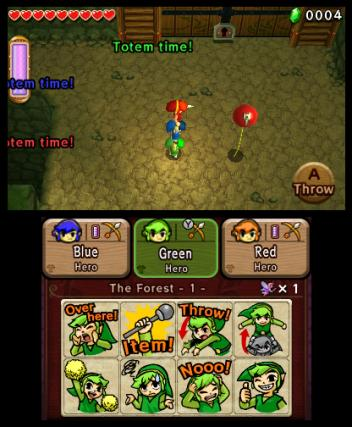 The Legend of Zelda Tri Force Heroes - 3DS Screenshot 1