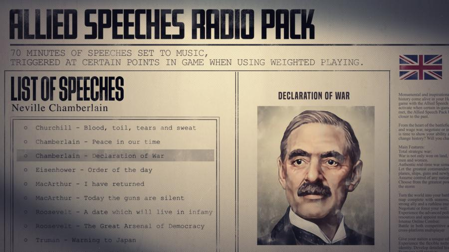 Hearts of Iron IV - Allied Speeches Music Pack (DLC) Screenshot 2
