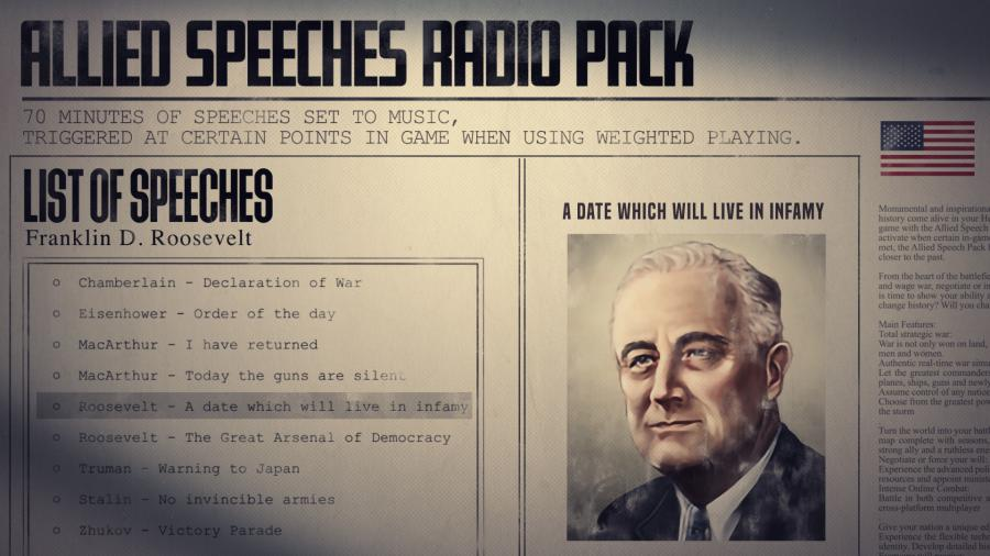 Hearts of Iron IV - Allied Speeches Music Pack (DLC) Screenshot 6