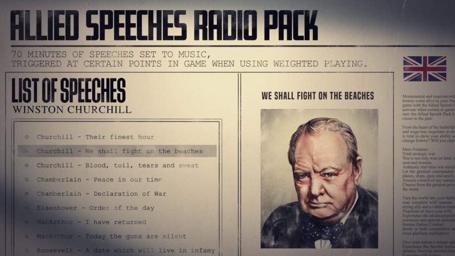 Hearts of Iron IV - Allied Speeches Music Pack (DLC) Screenshot 3