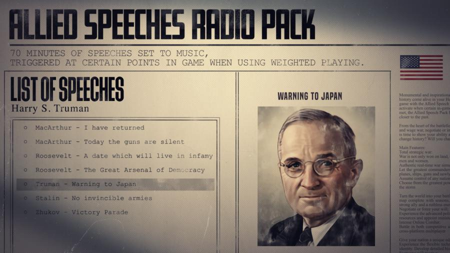 Hearts of Iron IV - Allied Speeches Music Pack (DLC) Screenshot 8